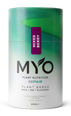MYO Plant Nutrition REPAIR BCAA, CBD, GLUTAMINE Mixed Berry 250g